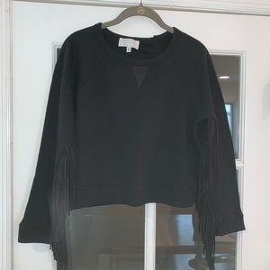 Kendall & Kylie Sweatshirt Crop Top